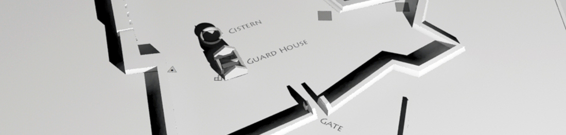Portion of Early 3D Image of Modern Ruins and Archaeological Investigations at Fort Charles