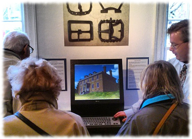 Visitors to the East Jersey Old Town Village Museum enjoy the Raritan Landing Virtual World Environment