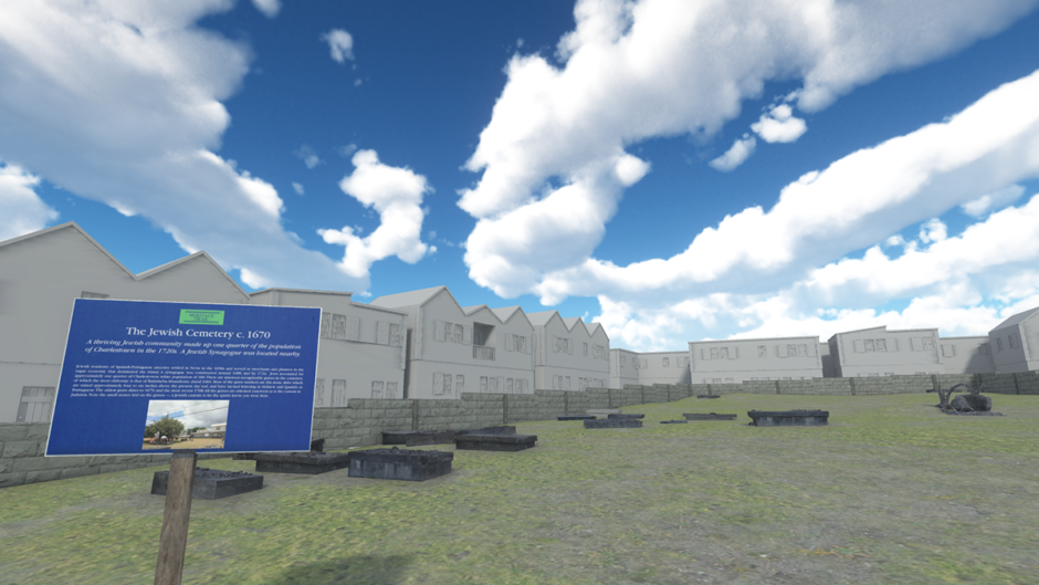 Screenshot from the virtual version of the Jewish cemetery.