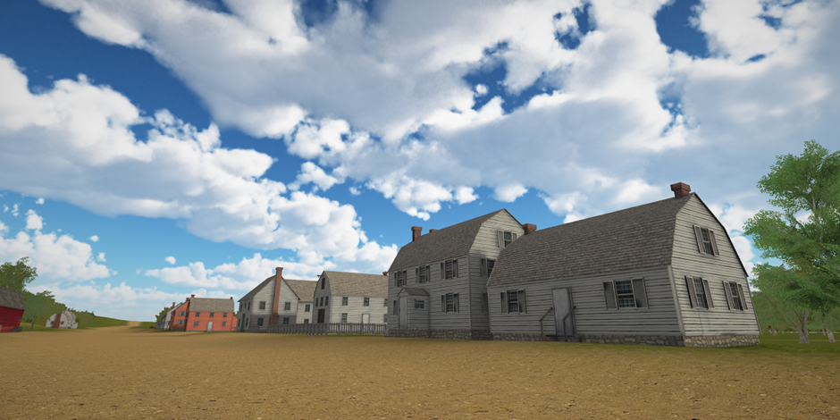 Updated Raritan Landing virtual world that includes several new structures