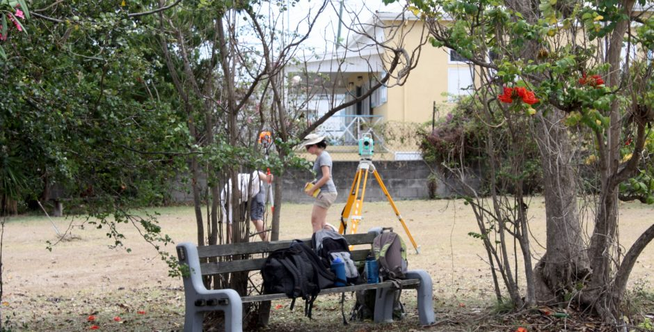 A Total station was used to map grave locations and produce a 3D surface for the virtual world.