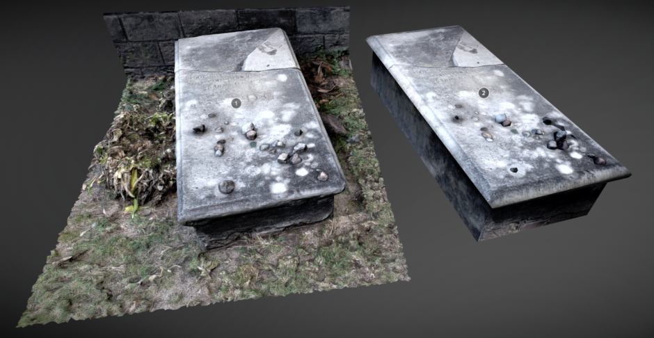 Still image that is a link to sketchfab page where the graves can be explored in 3D (Opens in New Window)